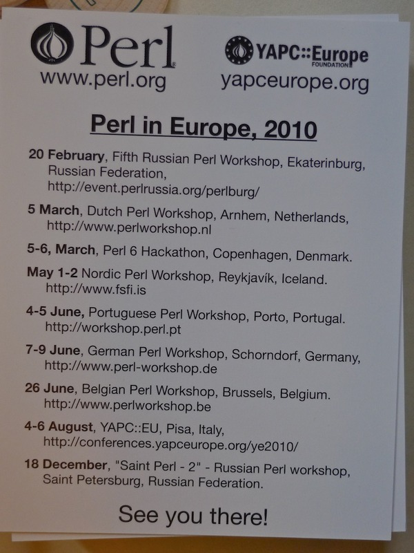 future #perl events postcard at #fosdem on Twitpic